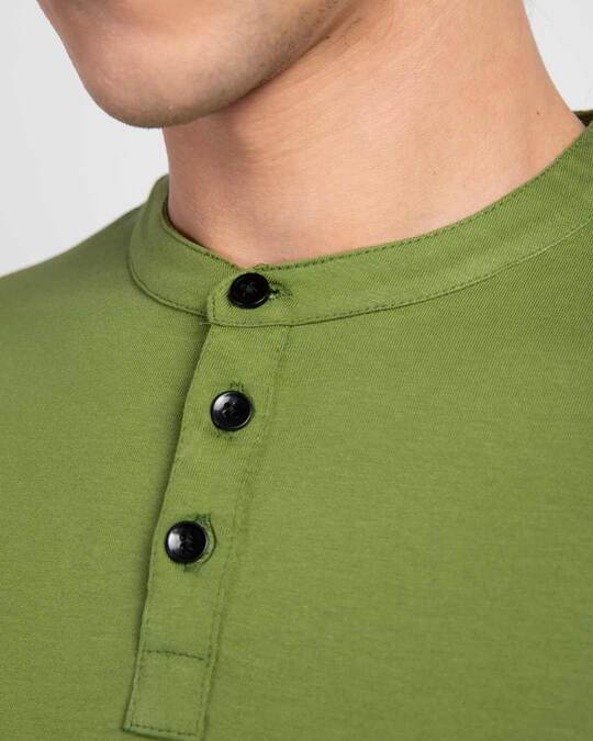 Shop Woodbine Green Full Sleeve Henley T-Shirt