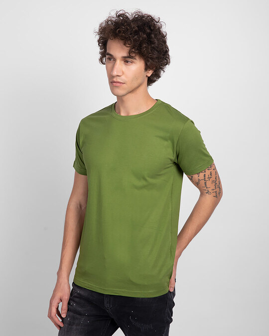 Shop Woodbine Green Half Sleeve T-Shirt-Back