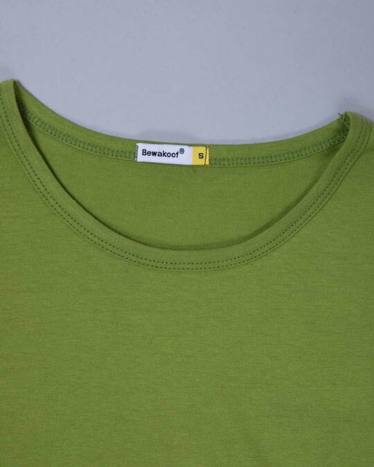 Shop Woodbine Green Round Neck 3/4th Sleeve T-Shirt
