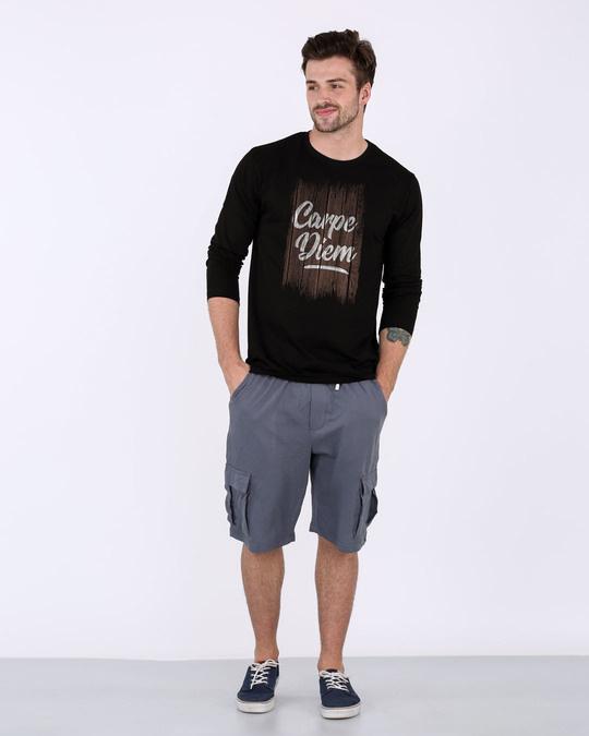 Shop Wooden Carpe Diem Full Sleeve T-Shirt