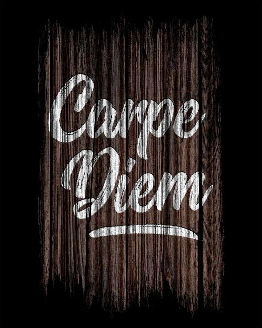 Shop Wooden Carpe Diem Half Sleeve T-Shirt