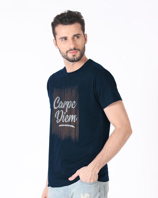 Shop Wooden Carpe Diem Half Sleeve T-Shirt-Full