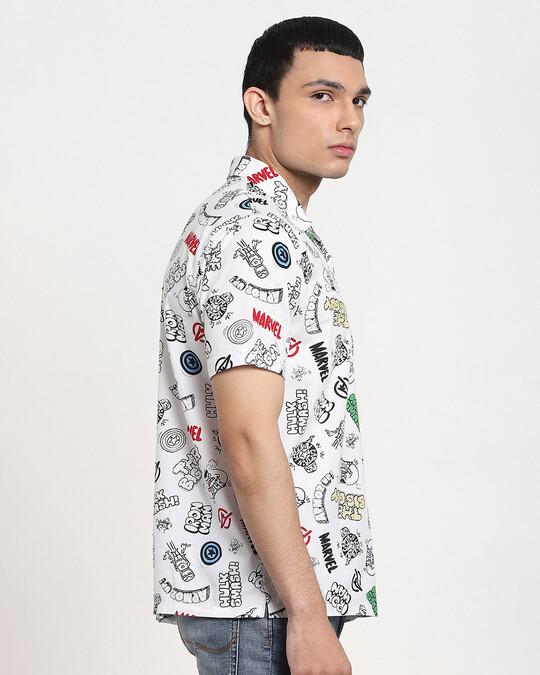 Shop Avengers AOP Half Sleeve Shirt-Back