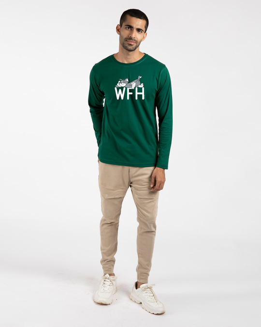 Shop Work From Home Chill Full Sleeve T-Shirt (TJL)-Full