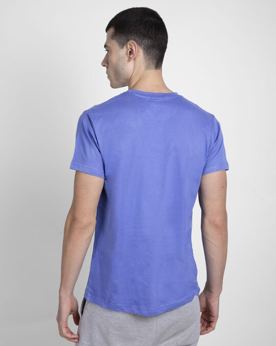 Shop Work From Home Chill Half Sleeve T-Shirt-Blue Haze-Back
