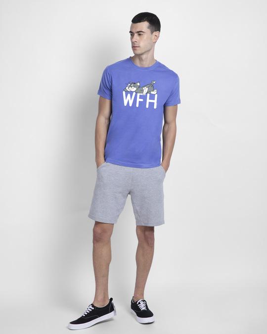 Shop Work From Home Chill Half Sleeve T-Shirt-Blue Haze-Design