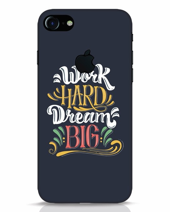 Shop Work Hard iPhone 7 Logo Cut Mobile Cover-Front