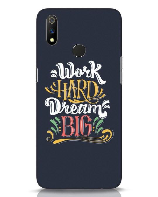 Shop Work Hard Realme 3 Pro Mobile Cover-Front