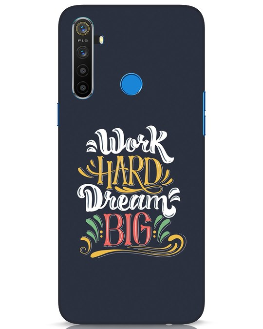 Shop Work Hard Realme 5 Mobile Cover-Front