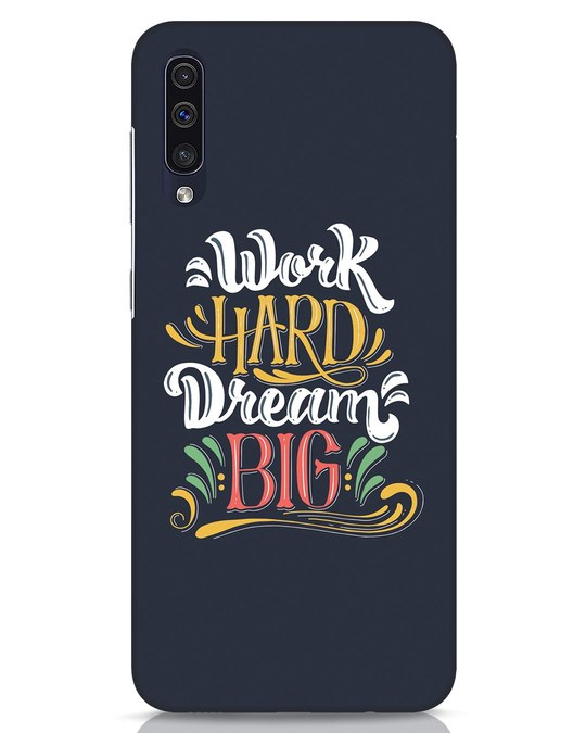 Shop Work Hard Samsung Galaxy A50 Mobile Cover-Front