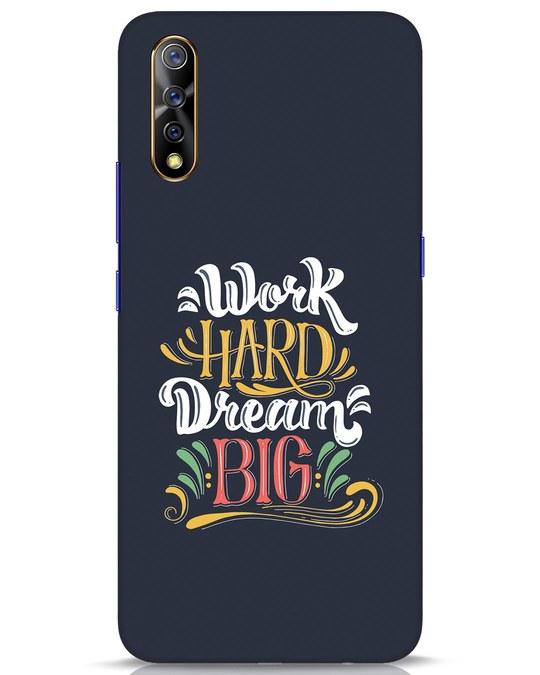 Shop Work Hard Vivo S1 Mobile Cover-Front