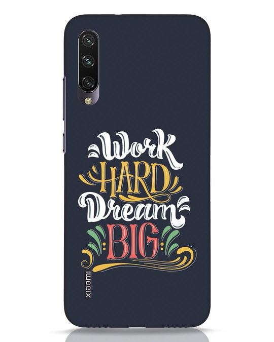 Shop Work Hard Xiaomi Mi A3 Mobile Cover-Front