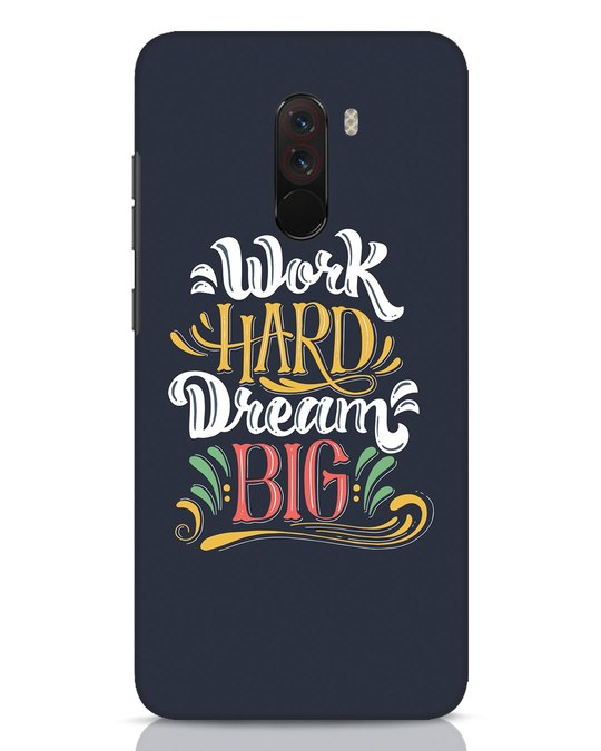 Shop Work Hard Xiaomi POCO F1 Mobile Cover-Front