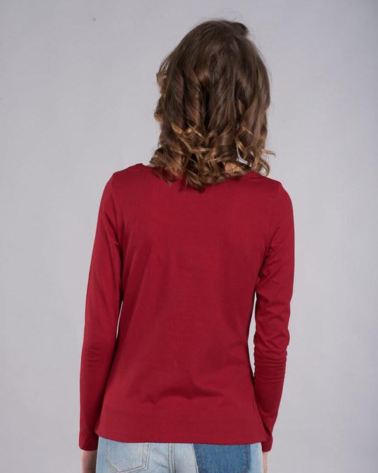 Shop Work Mode On Panda Scoop Neck Full Sleeve T-Shirt-Back