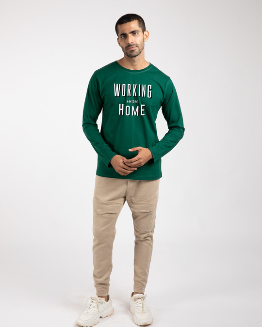 Shop Working From Home Full Sleeve T-Shirt-Design