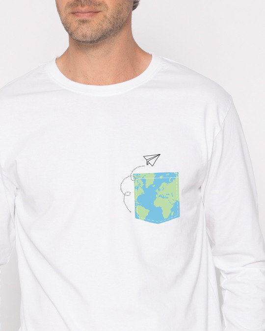 Shop World In Your Pocket Full Sleeve T-Shirt-Front
