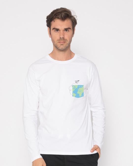 Shop World In Your Pocket Full Sleeve T-Shirt-Back