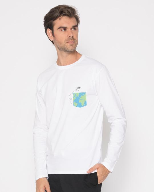 Shop World In Your Pocket Full Sleeve T-Shirt-Full