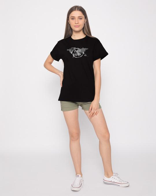 Shop World Map Boyfriend T-Shirt-Full