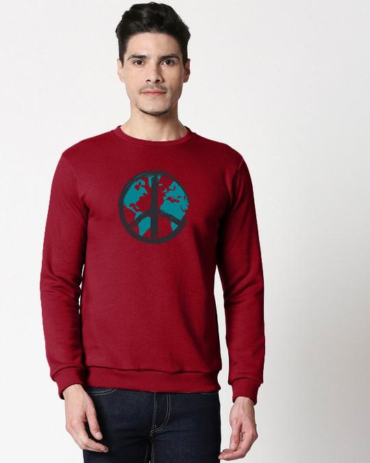 Shop World Peace Fleece Sweater-Front
