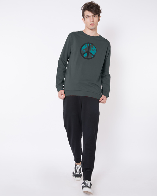 Shop World Peace Fleece Light Sweatshirt-Design