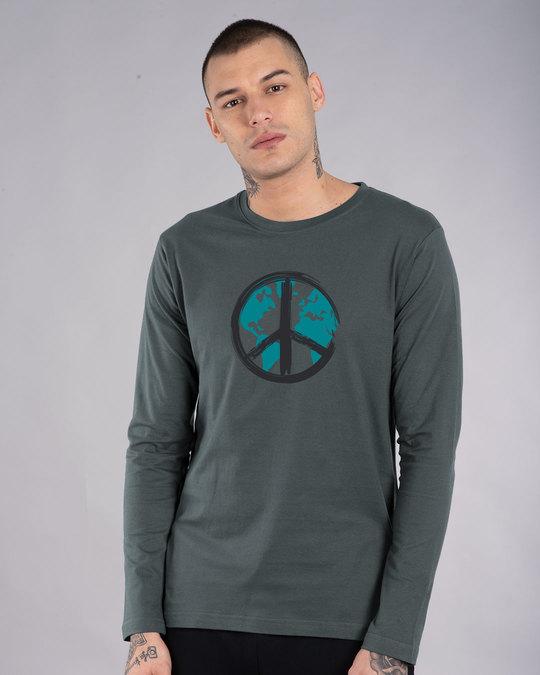 Shop World Peace Full Sleeve T-Shirt-Front