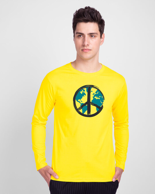 Shop World Peace Full Sleeve T-Shirt-Front
