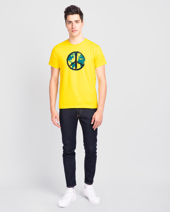Shop World Peace Half Sleeve T-Shirt-Design