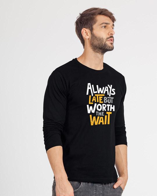 Shop Worth It Full Sleeve T-Shirt-Back