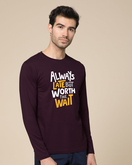 Shop Worth It Full Sleeve T-Shirt-Back