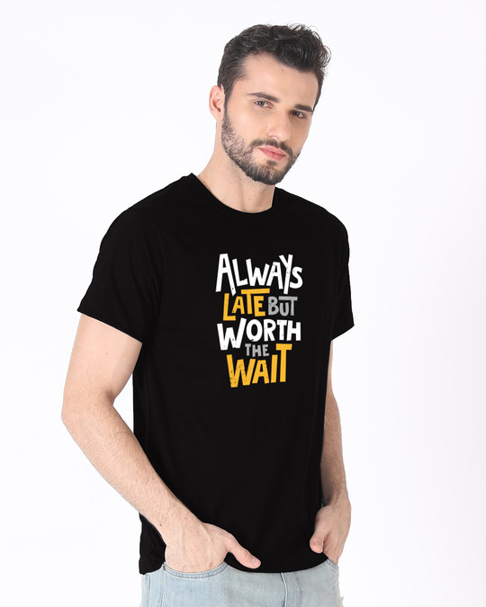 Shop Worth It Half Sleeve T-Shirt-Full