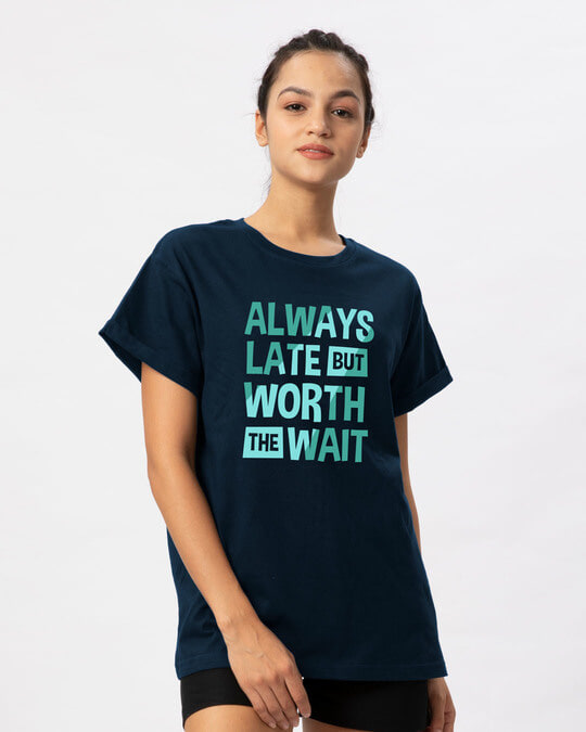 Shop Worth The Wait Boyfriend T-Shirt-Back