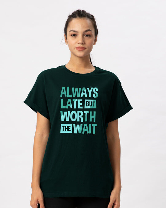 Shop Worth The Wait Boyfriend T-Shirt-Front