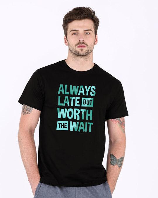 Shop Worth The Wait Half Sleeve T-Shirt-Back