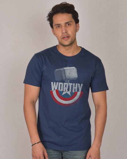 Shop Worthy Half Sleeve T-Shirt (AVEGL)-Front