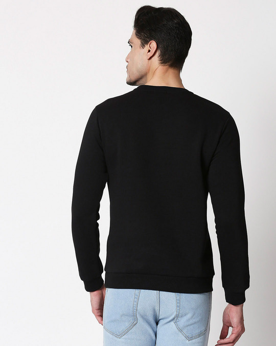 Shop Write Your Own Story Fleece Sweater Black-Back