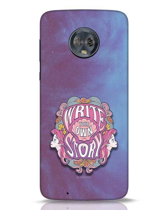 Shop Write Your Own Story Moto G6 Mobile Cover (DL)-Front
