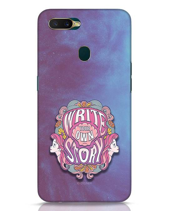Shop Write Your Own Story Oppo A7 Mobile Cover (DL)-Front