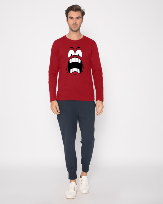 Shop Wtf Smiley Full Sleeve T-Shirt