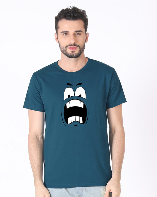 Shop Wtf Smiley Half Sleeve T-Shirt-Back