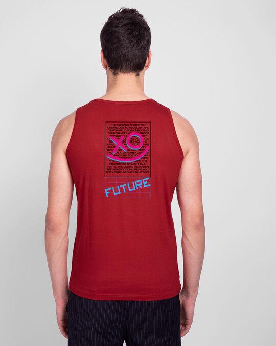 Shop Xoxo Future Round Neck Vest Bold Red-Design