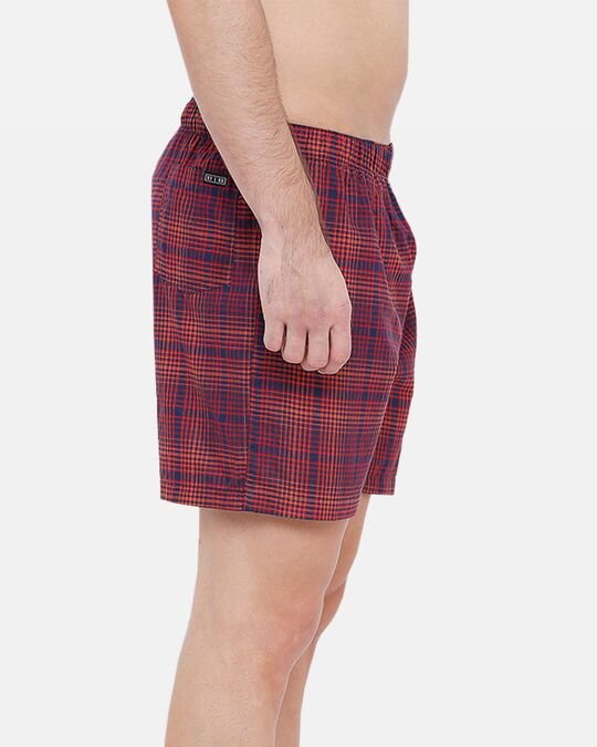 Shop XYXX Men's Checked Boxers Red & Blue-Back