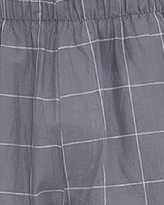 Shop XYXX Men's Checked Pyjama Grey-Full