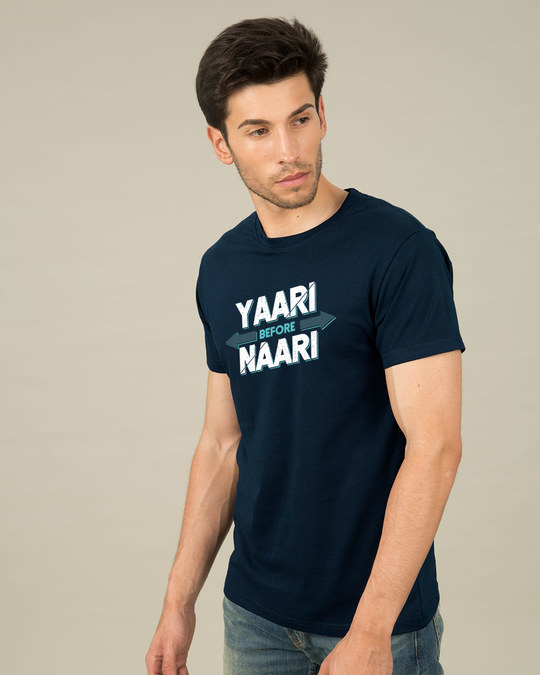 Shop Yaari Half Sleeve T-Shirt-Full