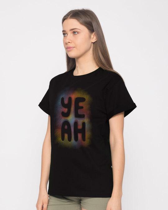Shop Yeah Colorful Boyfriend T-Shirt-Back