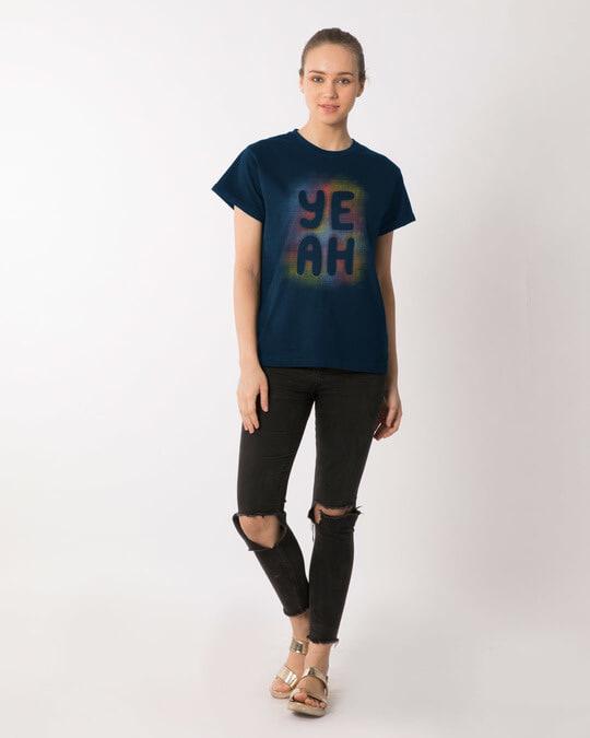 Shop Yeah Colorful Boyfriend T-Shirt