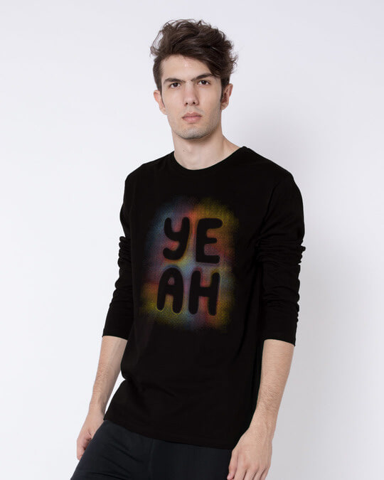Shop Yeah Colorful Full Sleeve T-Shirt-Back