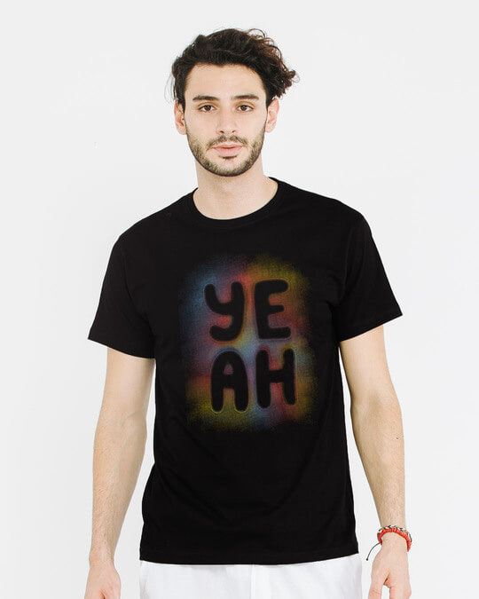 Shop Yeah Colorful Half Sleeve T-Shirt-Back