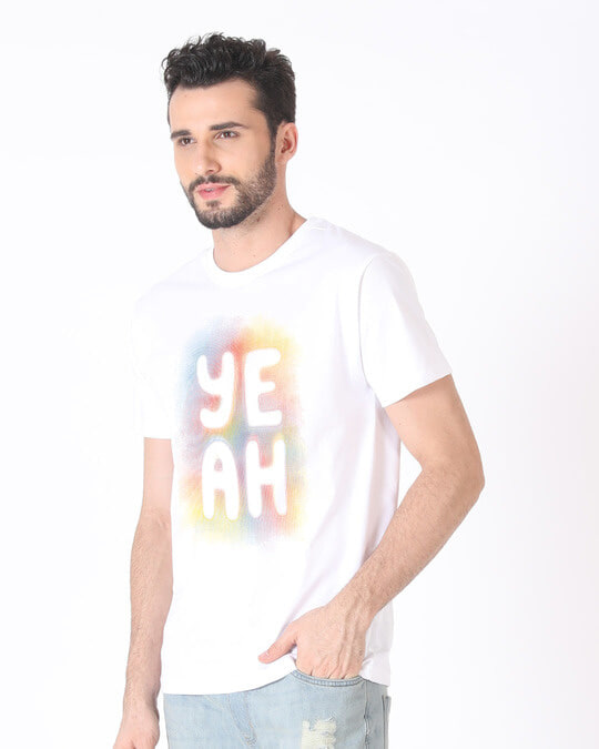 Shop Yeah Colorful Half Sleeve T-Shirt-Full