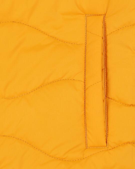 Shop Yellow Chill Block Wave Puffer Jacket